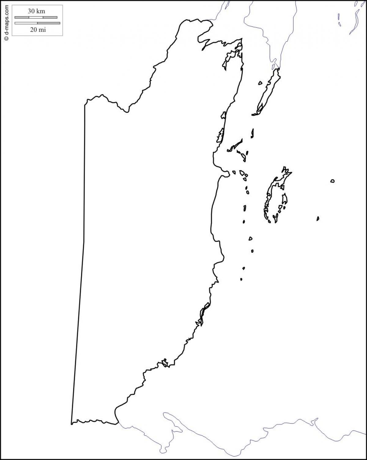 Blank map of Belize - Map of blank Belize (Central America ...