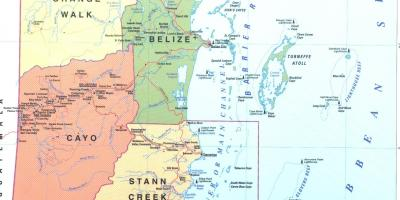 Belize city Belize map