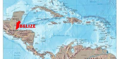 Map of Belize central america