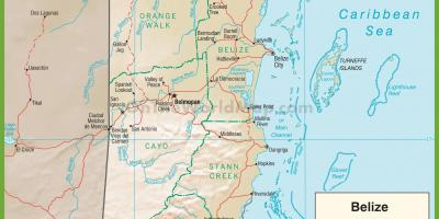 Belize highway map