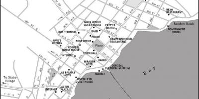 Map of corozal town Belize